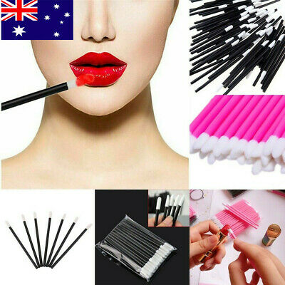 50/100Pcs Disposable Lip Brush Gloss Lipstick Wands Applicator Brush Makeup Tool