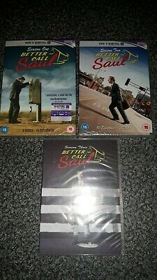 BETTER CALL SAUL Season 1 2 3 DVD Sets NEW & SEALED Please read: Regions 1 and 2