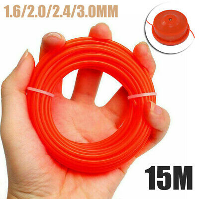 15M Nylon Trimmer Line Brush Cutter Strimmer Rope Lawn Mower Wire 2/2.4/3mm
