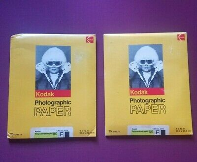 Kodak Polycontrast Rapid II RC 8x10 Medium Weight Photographic Paper 50 Sheets