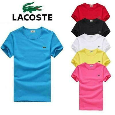6 Colors New Hot POLO shirts Lacoste11 CORTA UOMO DONNA ELEGANTE T-shirt S~6XL