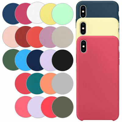 For iPhone XS Max XR X 8 7 6 Plus Thin Soft Silicone Apple Phone Back Cover Case