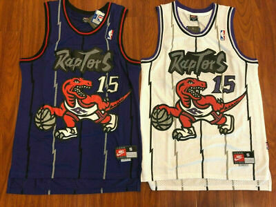 best loved 717f4 5e41c VINTAGE NIKE VINCE Carter Toronto Raptors Throwback Home ...