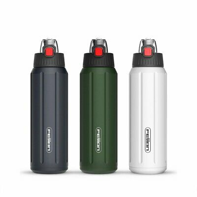 Stainless Steel Vacuum Insulated Water Bottle Sports Thermos Touch Opening Flask