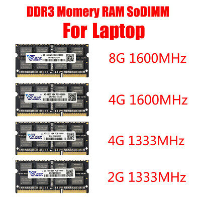 DDR3 Laptop Memory RAM 2GB 4GB 8GB 1600MHz 1333 PC-3 12800 10600 SO-DIMM 204 Pin