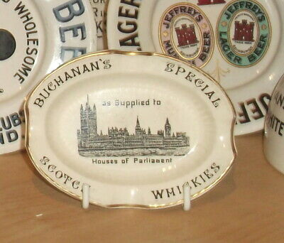 Rare Early Buchanans Ash Tray..houses Of Parliament Pictorial.