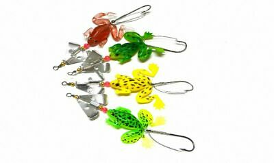 8pcs 9cm 6.2g Rubber Frogs Soft Fishing Lures Bait Bass Tackle [SN-53]