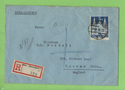 Germany (Allied Occ.) 1949 5Dm Type I (Mi100) on registered cover, SCARCE