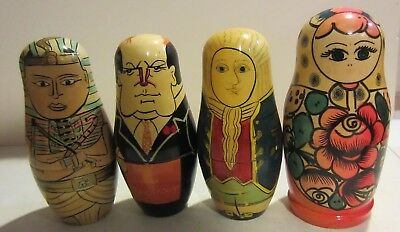 701 Russian Wooden Nesting Dolls Traditional Matryoshka Hand Painted 7pcs