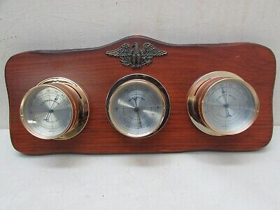 Vintage Mid Century Springfield Weather Station Thermometer Barometer Humidity