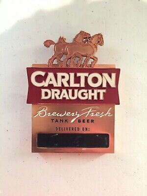 Carlton Draught Beer Badge Metal