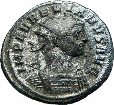 AURELIAN  274AD Rome Silvered  Ancient Roman Coin Nude Sol Sun with Globe i78609
