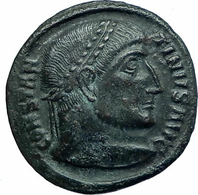 Constantine I The Great 320AD Ancient Roman Coin Wreath of Victory  i78613