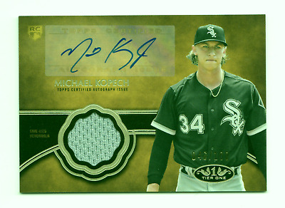 Michael Kopech Mlb 2019 Topps Tier One Autograph Relics #/100 (Chicago White Sox