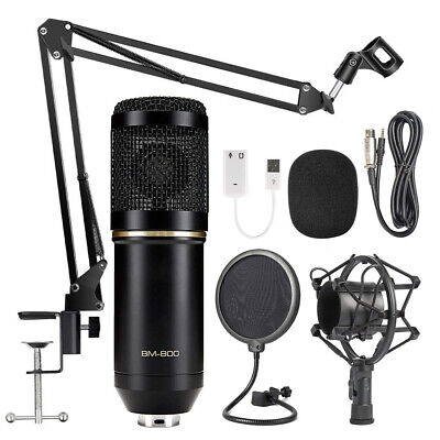 BM800 Condenser Microphone Kit Pro Audio Studio Recording & Brocasting  Mic Kit