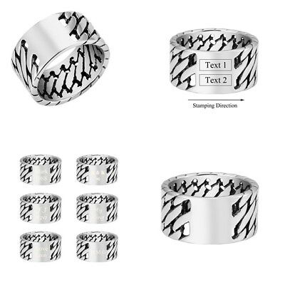 Vintage Men Stainless Steel Celtic Knot Ring Band Jewelry DIY US9-US13-AD