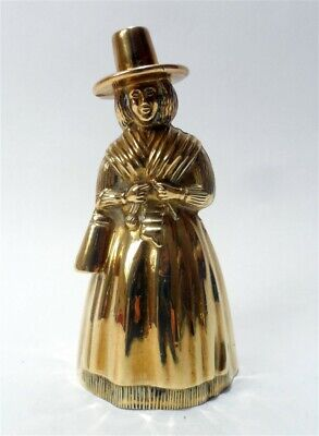 Antique Welsh English Heavy Solid Brass Bell Bronze Jenny Jones Highly Detailed