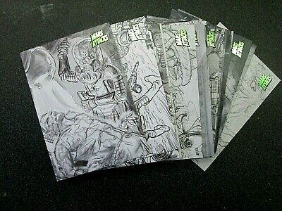 Mars Attacks Invasion 2013 **Pencil Art Cards**Choose The Numbers You Need***