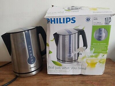 Philips Brushed Steel Kettle Tea Coffee  Philips Kettle