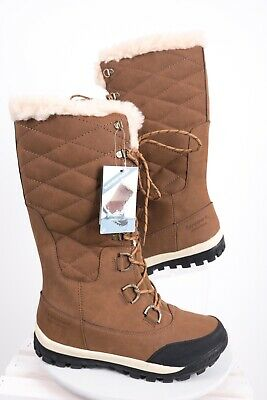 64f750fb418 BEARPAW WOMENS ISABELLA Tall Knee High Shearling Quilted Winter Snow ...