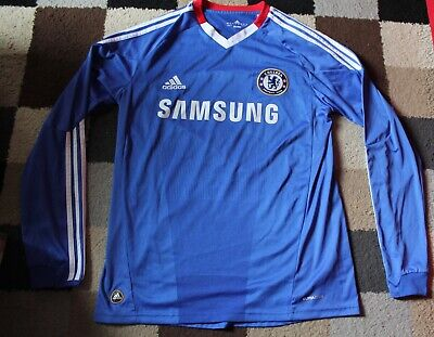 CHELSEA FC Home Shirt ADIDAS Long Sleeved 2010-11 (Medium M) 'Torres 9'