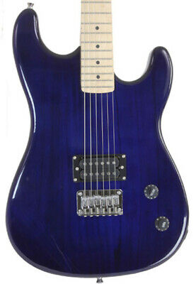 BLUE Full Size Electric Guitar With Humbucker Pickup 2nd Used Davison Demo