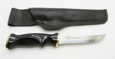 A2) Ducks Unlimited Fixed Blade Knife With Sheath Made In Sweden Very Nice