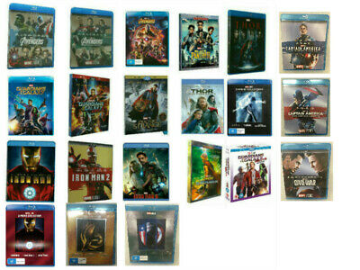 Pick 13  Marvel Blu-Ray Lot Movie Avengers Collection Thor 123 Iron Man 123 NEW