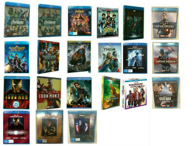 Pick 21 Marvel Blu-Ray Lot Movie Avengers Collection Thor 123 Iron Man 123 NEW