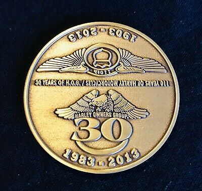 110 Years 1903-2013 Harley-Davidson Motorcycle Caribou 30 Years Hog Brass Coin