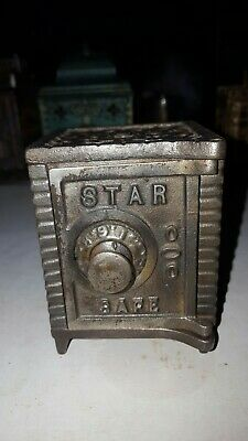 Antique Star Safe Cast Iron Bank