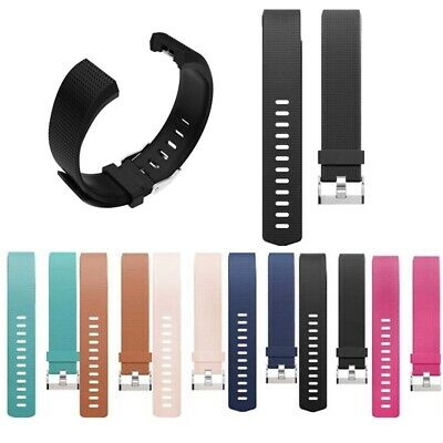 Fitbit Charge 2 Fitness Silicone Band Sports Wrist Replacement Wristband S L