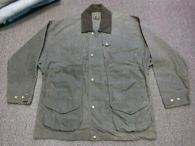 d7319392275c1 Filson 460N Shelter Tin Cloth Waxed Oiled Cotton Field Hunting Coat Jacket  Large