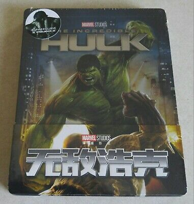 New Incredible Hulk 4K Ultra HD + Bluray Steelbook™ Blufans 1/4 Slip # 331/500