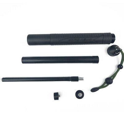Black Retractable Outdoor Self-defense Sticks Portable Whip Three Section Kit