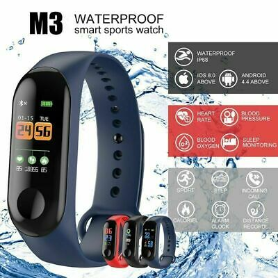 M3 Smart Band Watch Bracelet Wristband Fitness Tracker Pressure Heart Monitor ve