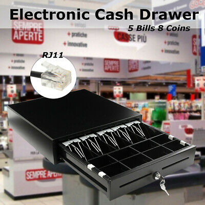 🔥STANDARD SIZE Solid Metal CASH DRAWER/TILL/DRAW 5x Note,8x Coin Electronic