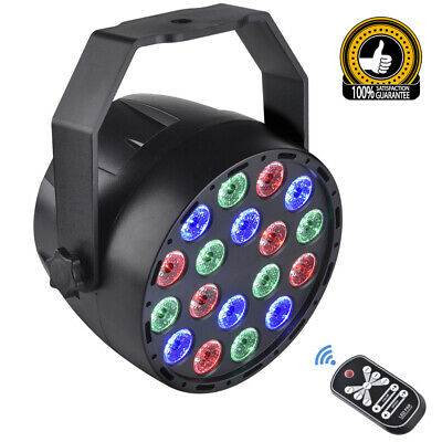 LED DJ Stage Lights 18W RGB LED DMX Stage Strobe Lighting Effect DJ Disco Party