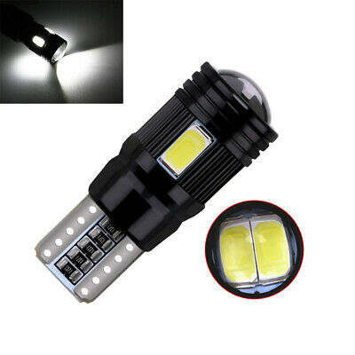 1x  T10 LED Light 5730 6SMD Canbus Error Free Bulbs W5W 168 194 Lens 6000K 12V