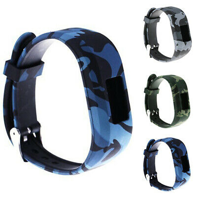 Camouflage Silicone Wrist Strap Replacement Watch Band for Garmin Vivofit JR2
