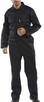 Size 42R Click Black Mens Polycotton Stud Coverall Overalls Boiler Suit New