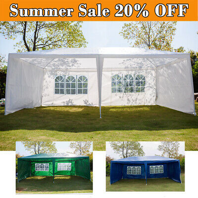 3x6m Gazebo Marquee Party Tent Waterproof Garden Patio Outdoor Canopy+Sidewalls