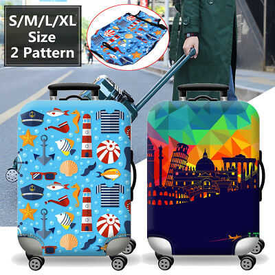 Elastic Travel Luggage Suitcase Cover Dustproof Protector Case Bag S/M/L/XL Size