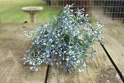 Pale / Mid Blue Mini Wax Flower Sprays Bunch / Bush Floral Foliage