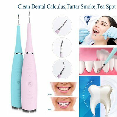New Waterproof Electric Sonic Dental Calculus Remover Scaler Teeth Stains Tool