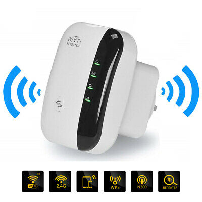 Wireless WiFi Repeater Signal Booster Amplifier 300Mbps 802.11N/B/G