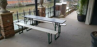 Wondrous Vintage Industrial German Beer Table And Benches 1 X Table Evergreenethics Interior Chair Design Evergreenethicsorg