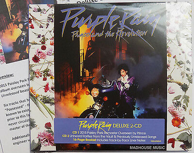 PRINCE CD x 2 Purple Rain DELUXE 2 CD set EXPANDED Remastered 2017 + Pro Sheet