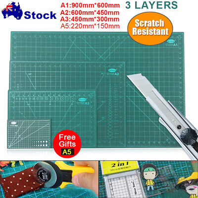 A1 A2 A3 Thick Self Healing Cutting Mat Craft DIY Grid Lines 2 Side DIY Cut Pad