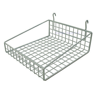 Small General Purpose Basket to Fit Mesh/Gridwall 295mm Wide In White (K30W)